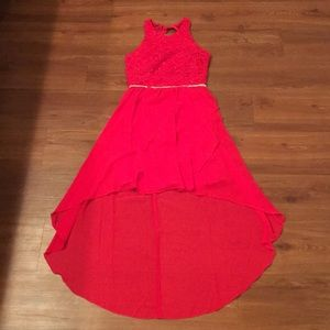 Red sparkling party dress